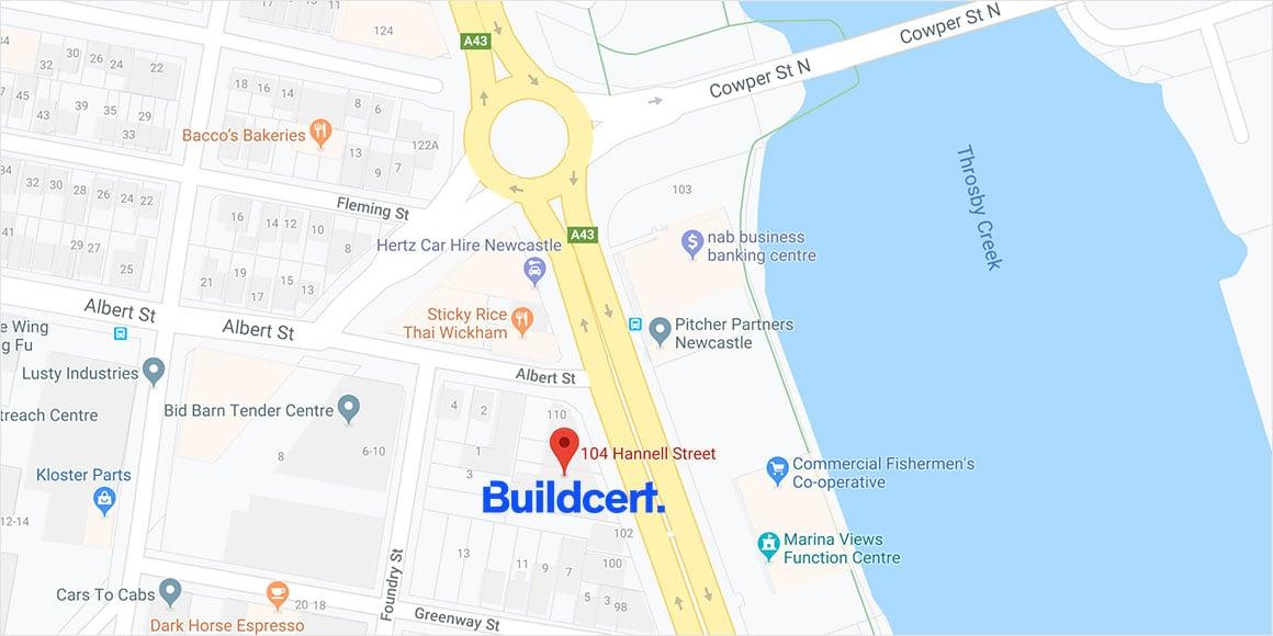 Buildcert Newcastle office location
